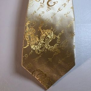 Other - Gorgeous Gold Silk Handmade Tie